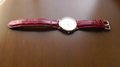 カガミ文字盤腕時計